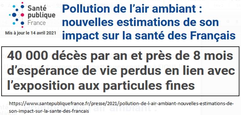 Sante-Publique-France Pollution de l-air Particules fines